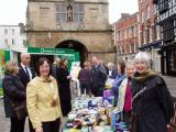 Shropshire Fairtrade Coalition's Fairly Local Pancake Day, with Shrewsbury Town Mayor, Shrewsbury February 2009